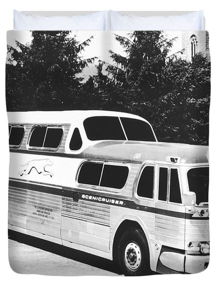 Gm's Latest Bus Line Duvet Cover