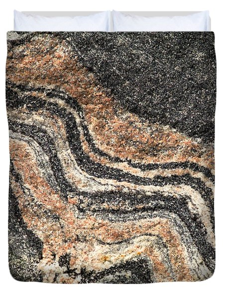 Gneiss Rock  Duvet Cover