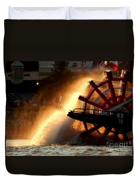 New Orleans Steamboat Natchez On The Mississippi River Duvet Cover by Michael Hoard
