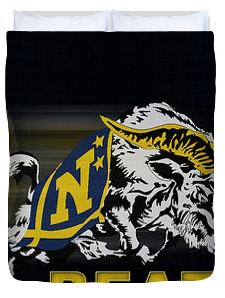 Go Navy Beat Army Duvet Cover by Mountain Dreams