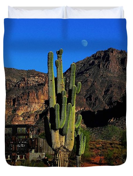 Go West Young Man Duvet Cover by Natalie Ortiz