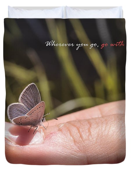 Go With All Your Heart - Confucius Duvet Cover