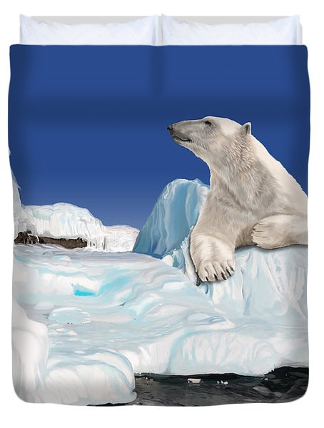 Go With The Floe Duvet Cover