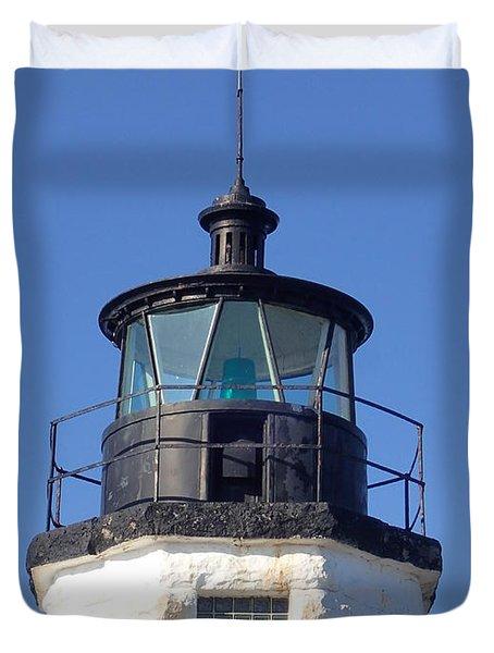 Goat Island Lighthouse Duvet Cover
