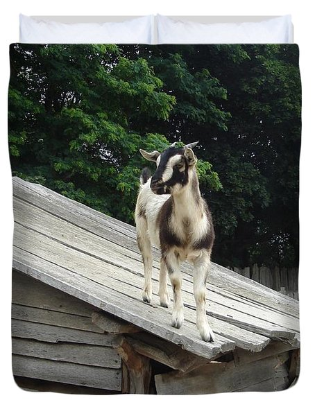 Goat On The Roof Duvet Cover