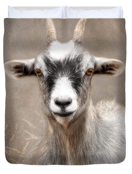 Goat Portrait Duvet Cover by Lori Deiter