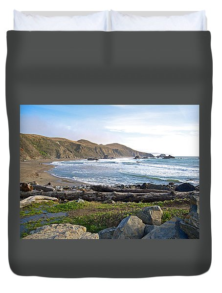 Goat Rock State Beach On The Pacific Ocean Near Outlet Of Russian River-ca  Duvet Cover