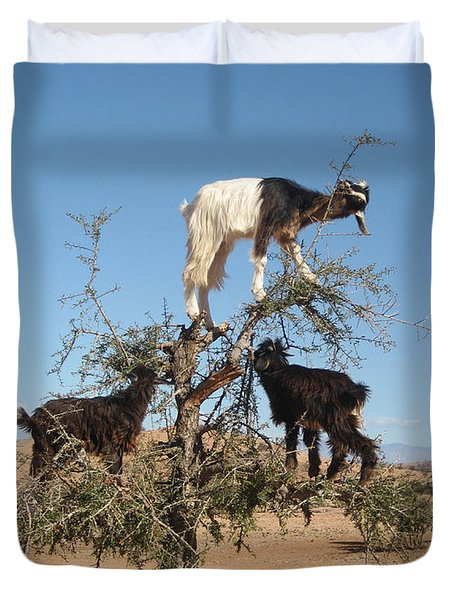 Goats In A Tree Duvet Cover