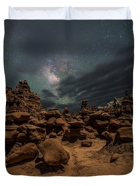 Duvet Cover featuring the photograph Goblins Realm by Dustin  LeFevre
