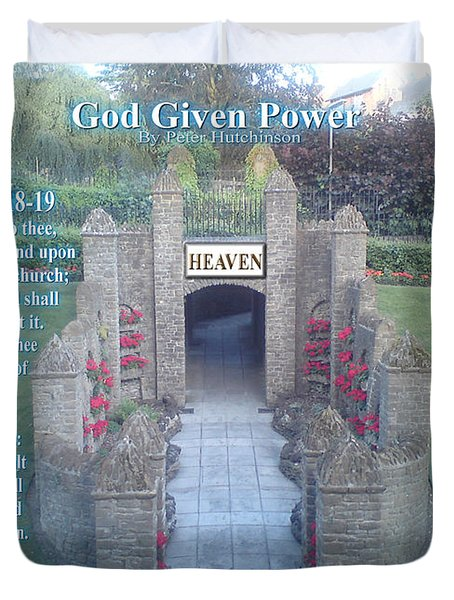 God Given Power Duvet Cover