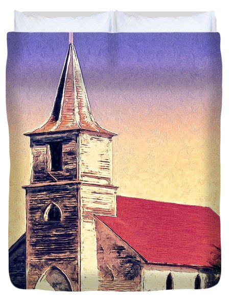 God Is Duvet Cover by Dominic Piperata