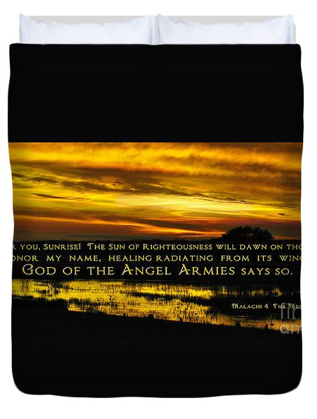 God Of Angel Armies Duvet Cover by Constance Woods