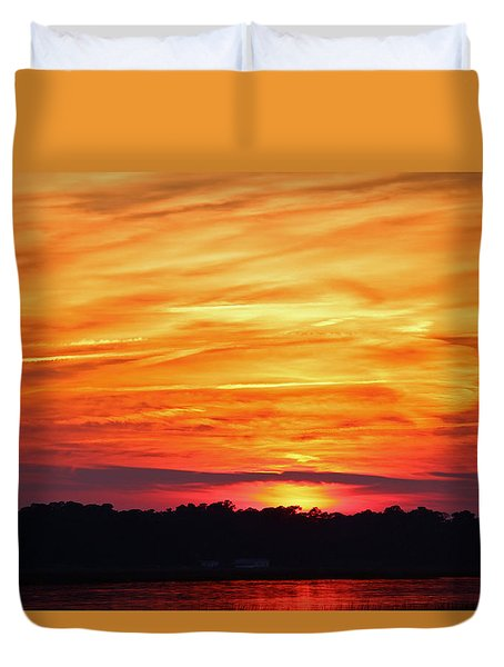 God Paints The Sky Duvet Cover