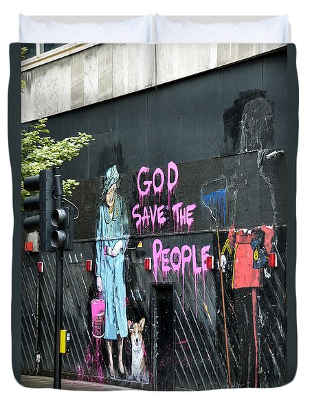 God Save The People Duvet Cover
