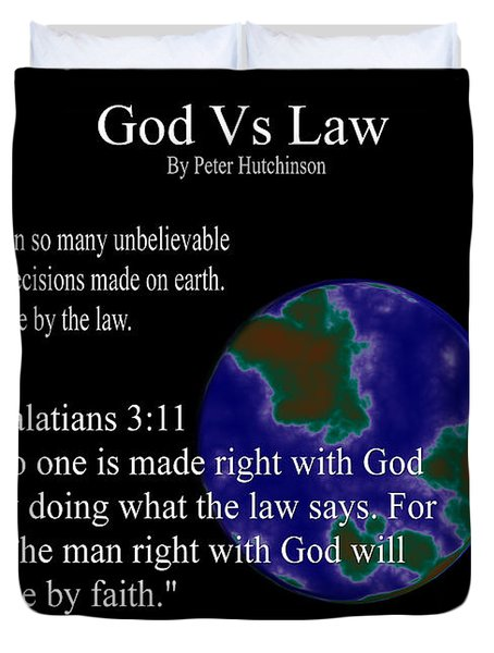 God Vs Law Duvet Cover