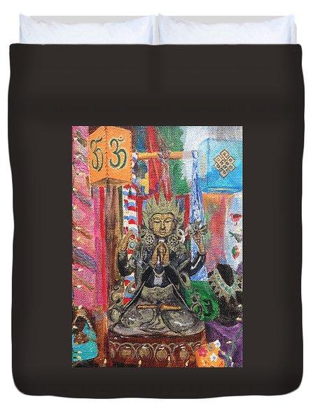 Buddha Goddess Duvet Cover by Chrissey Dittus