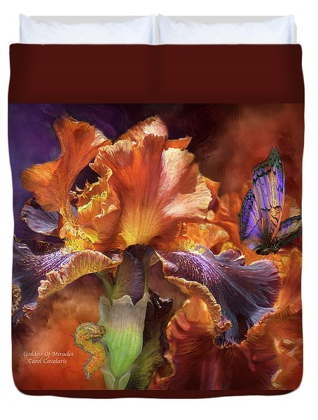 Goddess Of Miracles Duvet Cover by Carol Cavalaris