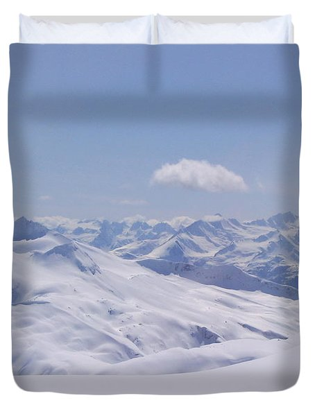 Duvet Cover featuring the photograph Gods Country by Brian Williamson