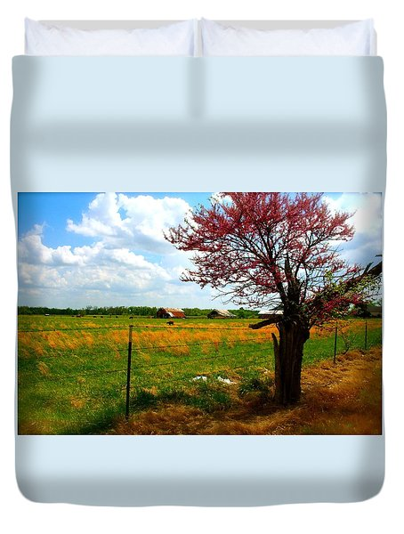 Gods Country   Commerce Miami Oklahoma Duvet Cover