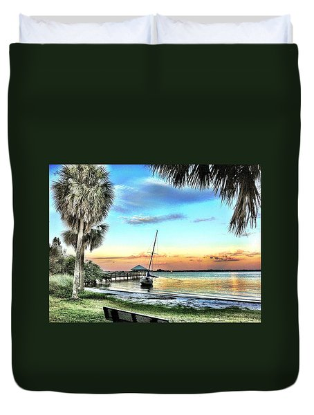 God's Country IIi Duvet Cover by Carlos Avila