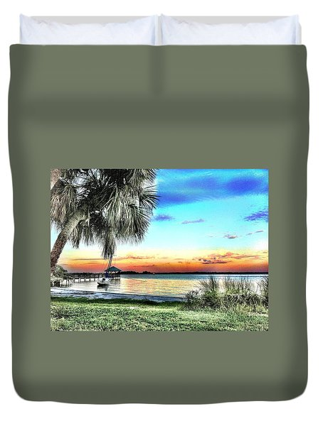 God's Country Iv Duvet Cover by Carlos Avila