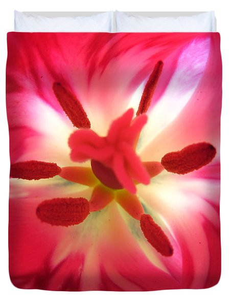 God's Floral Canvas 2 Duvet Cover