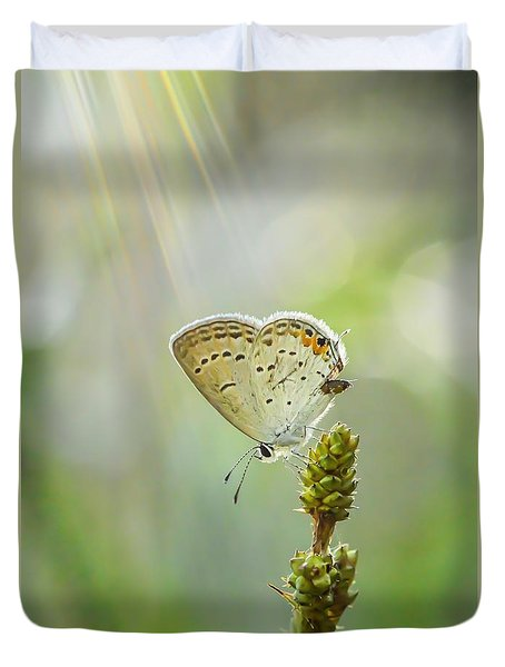 God's Love Shining Down Duvet Cover by Debbie Green