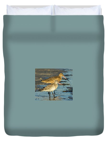 Godwits Duvet Cover by Jane Luxton