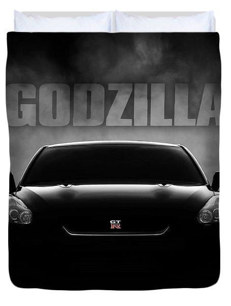 Godzilla Duvet Cover by Douglas Pittman