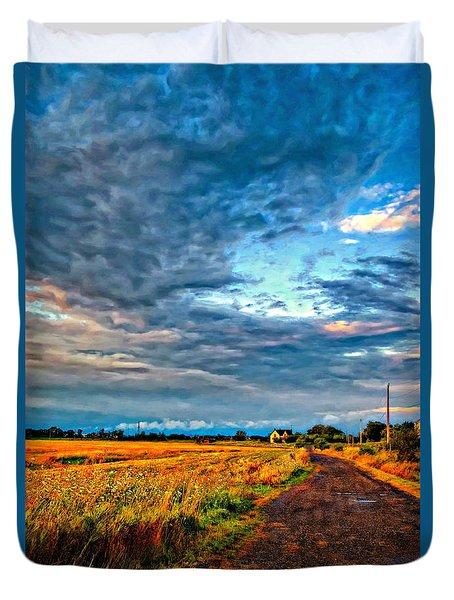 Goin' Home Oil Duvet Cover by Steve Harrington