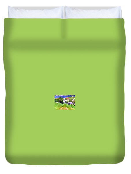 Going Down To Town Duvet Cover