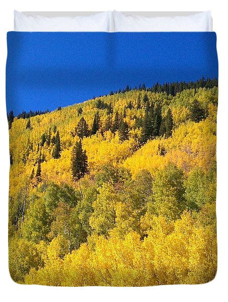 Duvet Cover featuring the photograph Going Gold by Fortunate Findings Shirley Dickerson