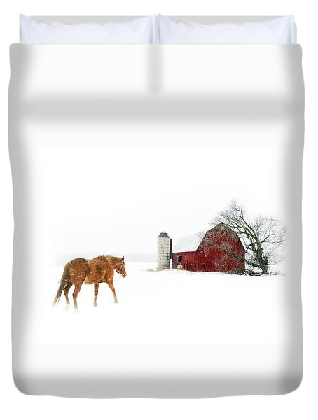 Going Home Duvet Cover by Ann Lauwers