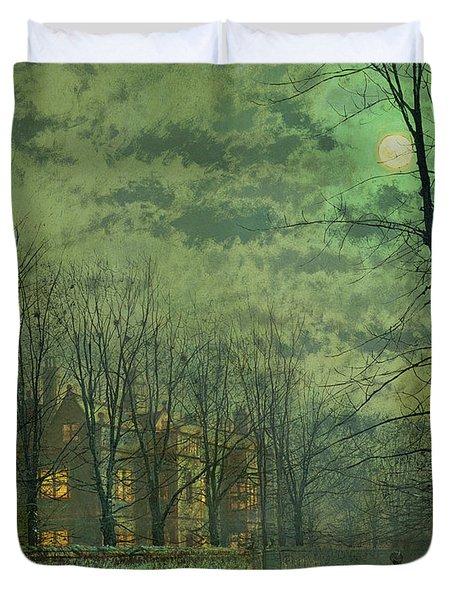 Going Home By Moonlight Duvet Cover
