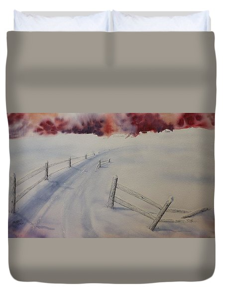 Duvet Cover featuring the painting Going Home by Richard Faulkner