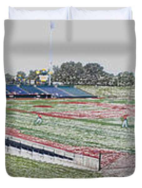 Going To The Baseball Game Digital Art Duvet Cover by Thomas Woolworth