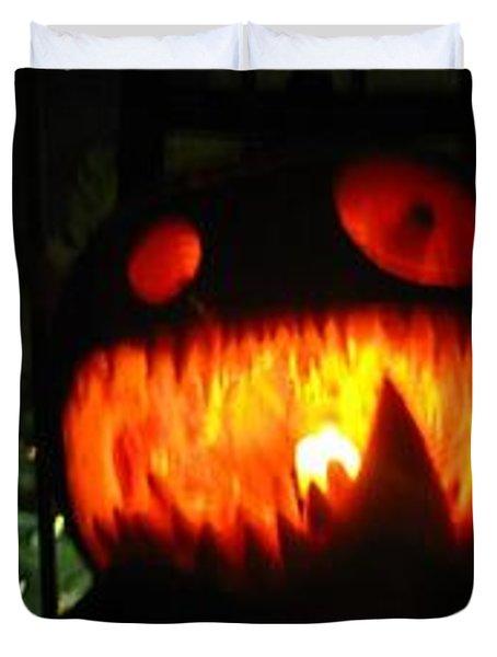 Going Up Pumpkin Duvet Cover