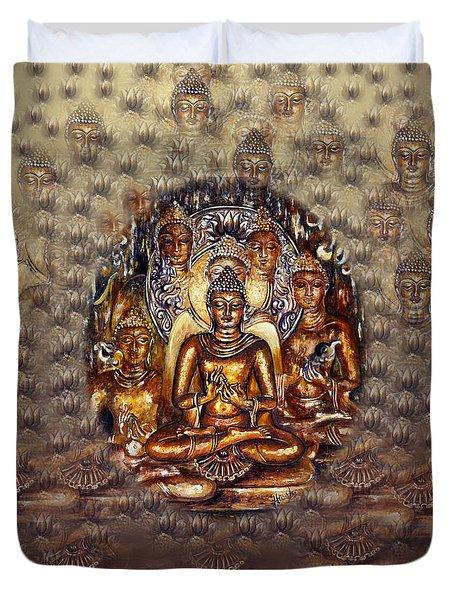 Gold Buddha Duvet Cover