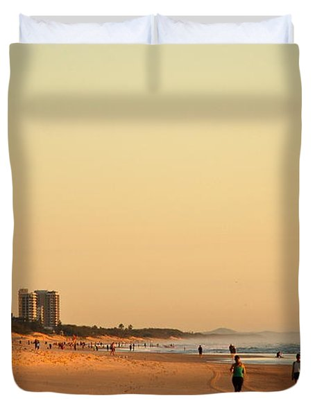 Duvet Cover featuring the photograph Gold Coast Beach by Eric Tressler