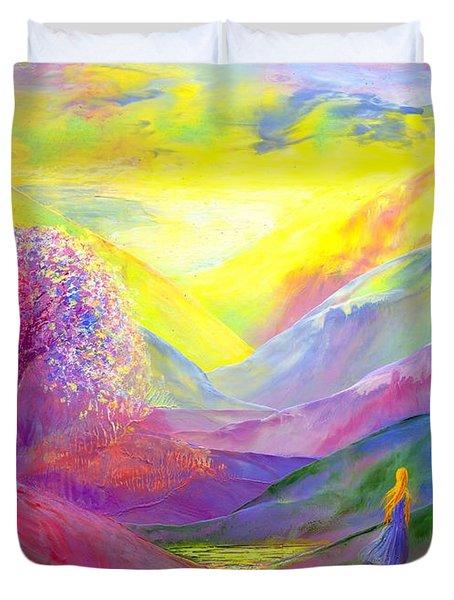 Gold Horizons Duvet Cover