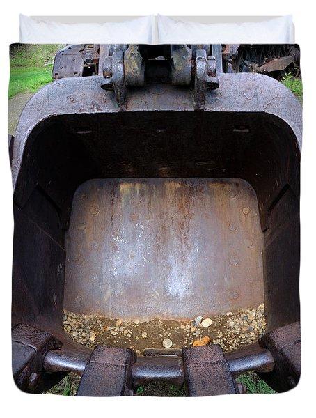 Gold Mining Steam Shovel Bucket Close-up Duvet Cover