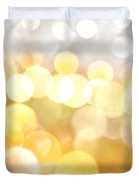 Gold On The Ceiling Duvet Cover