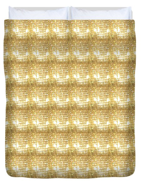 Gold Sparkle Tone Pattern Unique Graphics Duvet Cover by Navin Joshi