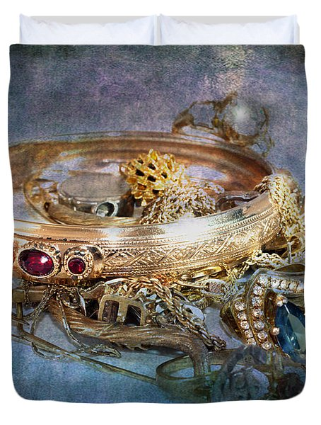 Duvet Cover featuring the photograph Gold Treasure by Gunter Nezhoda