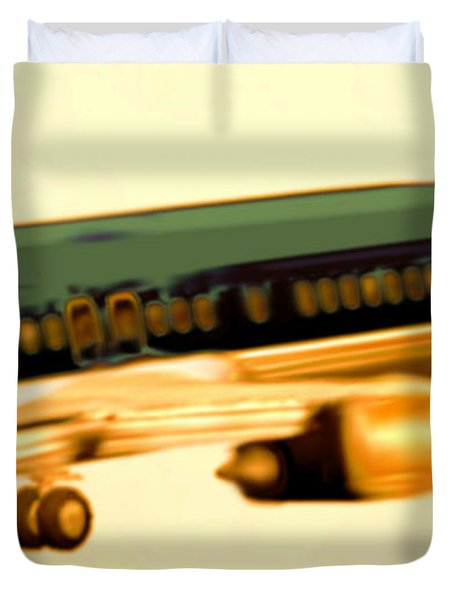 Golden And Bronze Rust Duvet Cover by Marcello Cicchini
