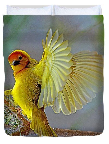 Golden Angel Duvet Cover