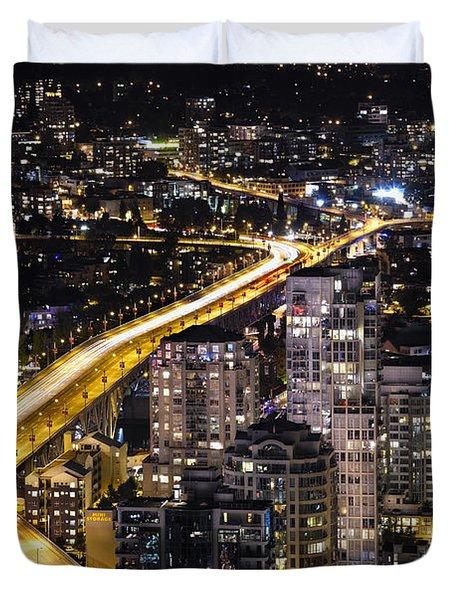 Duvet Cover featuring the photograph Golden Artery - Mcdxxviii By Amyn Nasser by Amyn Nasser