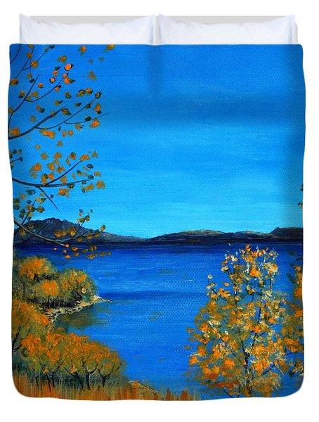 Golden Autumn Duvet Cover by Anastasiya Malakhova