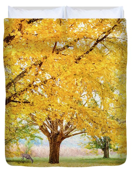 Golden Autumn Duvet Cover by Darren Fisher