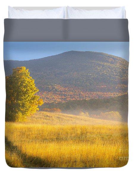 Golden Autumn Morning Duvet Cover